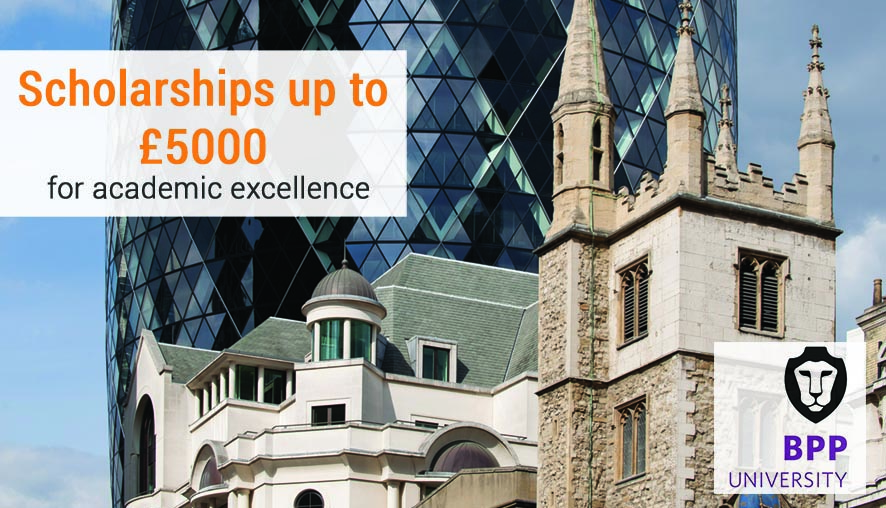 Study in London postgraduate, Undergraduate degrees and English courses : BPP MASTER SCHOLARSHIPS